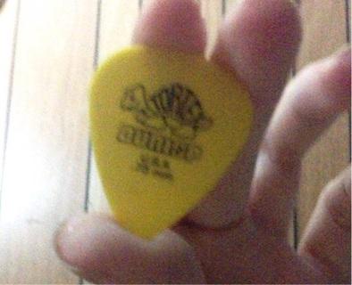 Yellow Dunlop .73mm pick