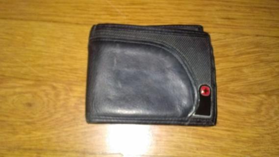 mens black leather swiss gear wallet