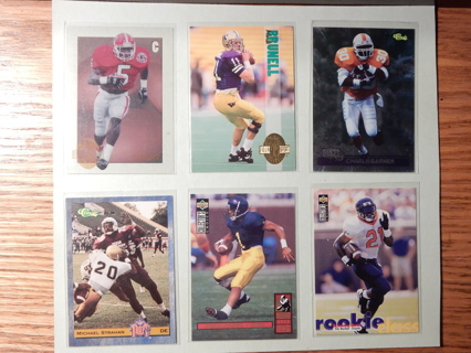 Rookies of the Past NFL. - Lot of 8 Cards.