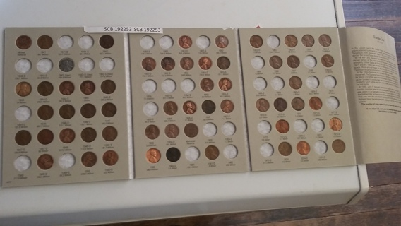 1941-1974 Lincoln cent Harris folder started with 57 coins pennies 192253
