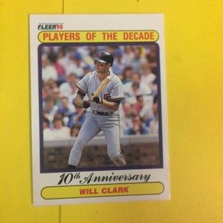 "1990 Fleer Players of the Decade ""Error Card"" #630 Will Clark - Giants"