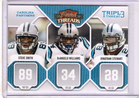 Steve Smith/Stewart/Williams 2010 Panini Threads Triple Threats #2