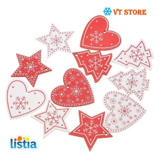 10PCS DIY Tree/Heart/Star Wooden Pendants Ornaments For Christmas Party Xmas Tree Ornaments Kids