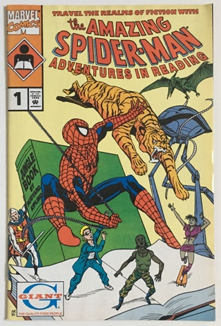 The Amazing Spider-Man Adventures In Reading #1 Promo Kids Comic From Giant Foods 1991 FN/VF