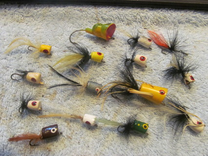 Free vintage fishing lure old flyrod popper bugs for Free fishing stuff