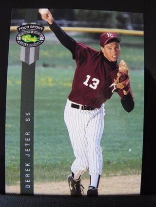 Free 1992 Classic 4 Sport 231 Derek Jeter Rookie Card