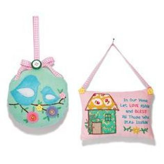 Pretty birdies pillow wall hanging (birds pillow only)