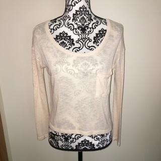 Worn once light pale pink crop top shirt XS