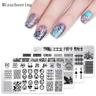 12*6cm New 25 Designs Lace Nail Art Stamping Template Plates And Stamper DIY Polish Print Image Ma