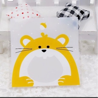 ⭐️ Cute Fat Hamster Small Self Sealing Cello Bags 10 Count NEW ⭐️