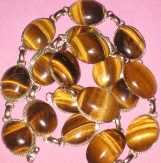 vintage tiger eye necklace & bracelet