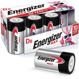 Brand New Energizer Max D Batteries 8 pack