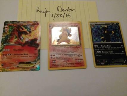 ONE Rare Holo Pokemon Card - GIN takes all + Bonus cards