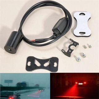 1Set New Car Red LED Laser Fog Light Anti-Collision Taillight Brake Warning Lamp