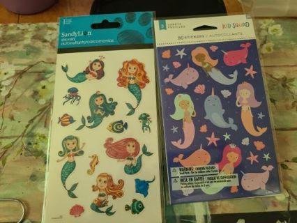 2 Packs Of Mermaids Stickers