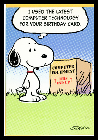 Snoopy Peanuts Crisp New Birthday Greeting Card W Envelope