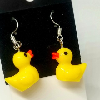 Yellow ducks drop earrings Hilarius , funny gag gift free ship New