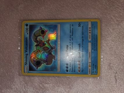 EXCELLENT NEAR MINT CONDITION SHINING VOLCANION POKEMON CARD!