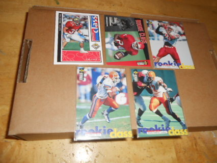 Lot of 5 Rookie Class Football Cards