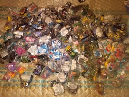 200 + collectable unopened happy meal toys
