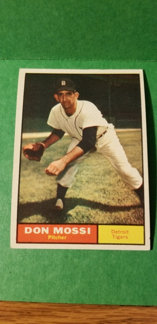 1961 - TOPPS EXMT - NRMT BASEBALL - CARD NO. 14 - DON MOSSI - TIGERS