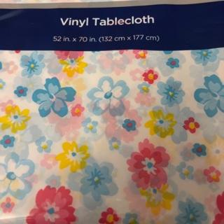 Flower Plastic Tablecloth