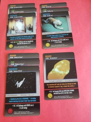 10 Fleer Star Trek The Card Game Original Series Lot #1