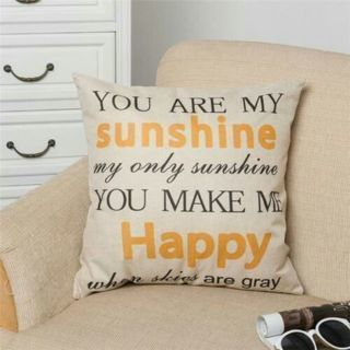 You Are My Sunshine Letter Pillow Case Throw Decorative Pillow Cushion Cover