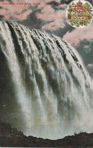 Vintage Used Postcard: 1907 American Falls from Below, Niagara, NY