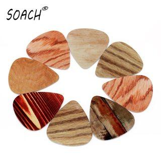 SOACH 10PCS 1.0mm high quality guitar picks two side pick Grain picks earrings DIY Mix picks guitar