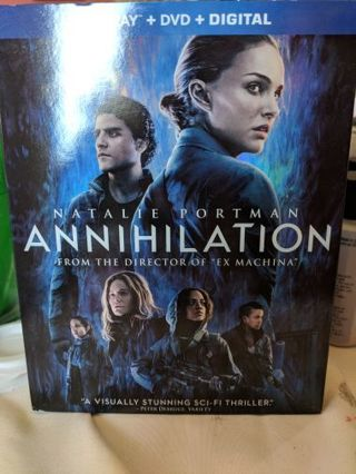 Annihilation Blu Ray + DVD + Digital Code