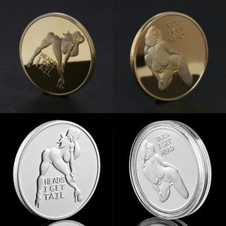 Sexy Woman Luck Commemorative Coin Collection Arts Gifts Alloy Souvenir