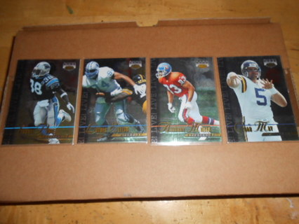 Lot of 4 Images Live Football Cards