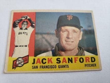 1960 topps Jack Safford San Francisco giants vintage baseball card