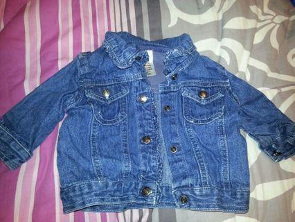 girls small wonders denim jacket 3/6 months