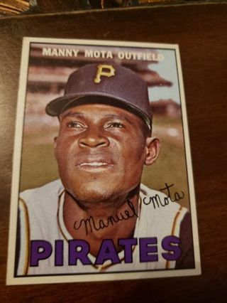 1967 Manny Mota Pittsburgh pirates vintage baseball card