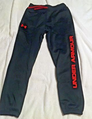 275a08cd8fb FREE  Under Armour Boys Coldgear Storm Fleece Branded Jogger  Pants size YMD M - New With Tags