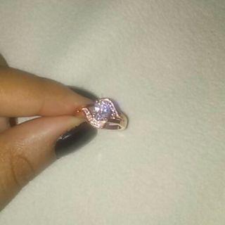 18k solid rose gold ring