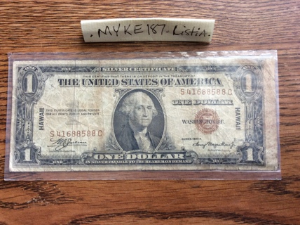 1935 A Hawaii brownseal banknote-fair condition-liars poker note-free shipping USA!