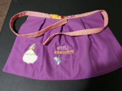 Childs handmade and embroidered princess Apron