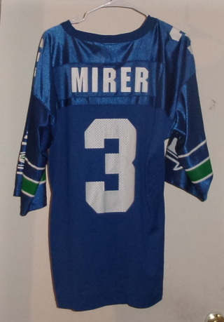 Rick Mirer (Seattle Seahawks) & Kevin Durant (Oklahoma City) Jerseys (Adult-L)