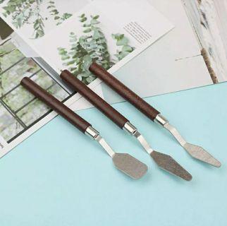 3Pcs/Set Painting Palette Knife Spatula Mixing Paint Stainless Steel Art KniN