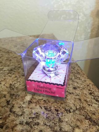 Oversized Flashing Diamond Ring