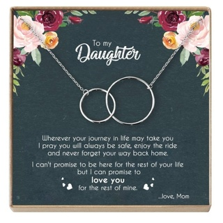 MOTHER and DAUGHTER NECKLACE=Free shipping