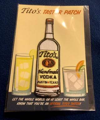 """BNIP """"Tito's Handmade Vodka"""" Iron or Sew On Patch!! Free To Ship!"""
