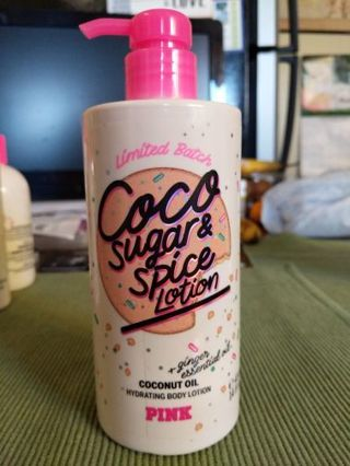 Victoria's Secret Pink, cocoa sugar and spice lotion