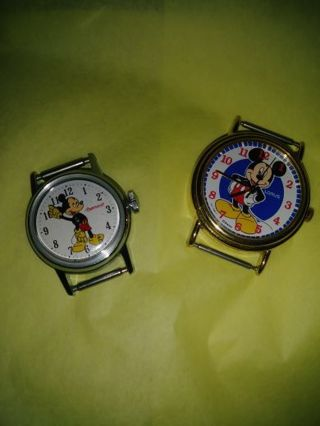 2 Mickey Mouse watches without the band