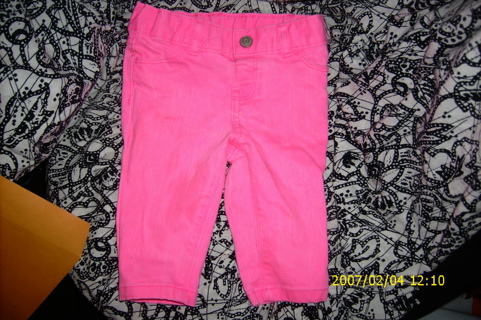 cutiest  little girls hot pink sz 18 month old jeans you have ever seen