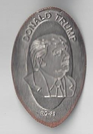 NEW - DONALD TRUMP - Elongated Quarter Reeded (NOT Penny)!!!
