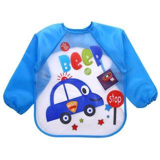 Baby Bibs Waterproof Burp Cloths Lunch Feeding Apron Boy Girl Toddler Long Sleeve Bib Kids Cute Ca